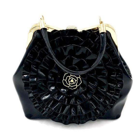 Handbags - Black Patent Leather Handbag